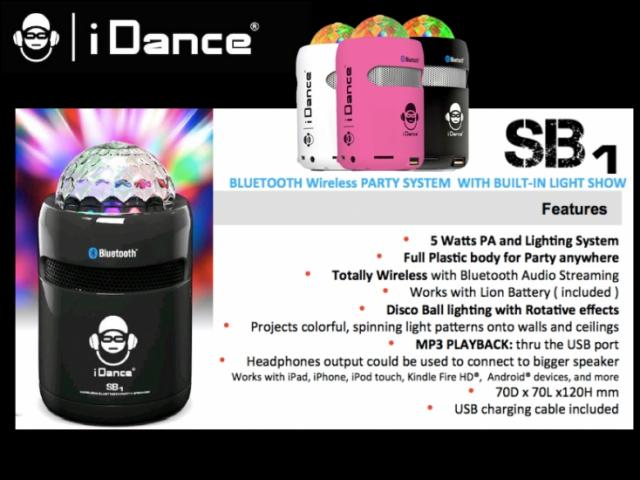 iDANCE SB1  Bluetooth party prenosni zvočnik