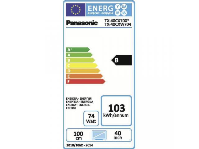 PANASONIC 4K UHD TX-40CXW704 3D LED TV #5