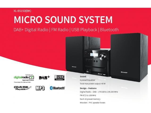 SHARP XL-B515D Micro-Soundsystem #2