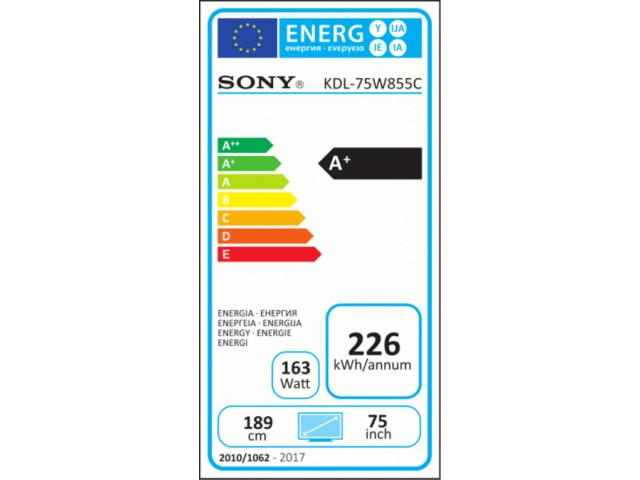 SONY KDL-75W855C  3D LED TV #5